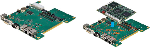 AMC-MB-COME-1L: Mini-ITX Carrier Board for COM Express Modules Type